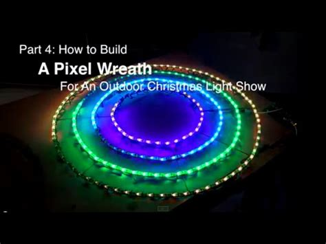 part 4 how to build a pixel wreath for an outdoor