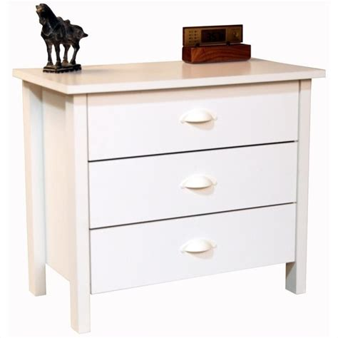 White Three Drawer Chest by Venture Horizon Nouvelle 3 Drawer White Finish Chest Ebay