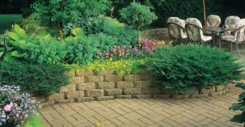 home depot landscaping build a retaining wall with landscape blocks garden club
