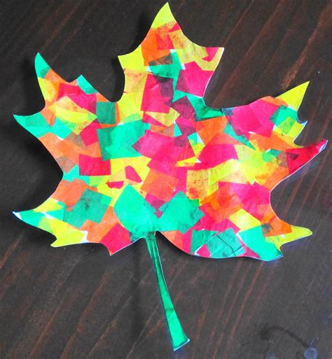 Paper Leaf Craft - teaching with tlc beautiful tissue paper fall leaves