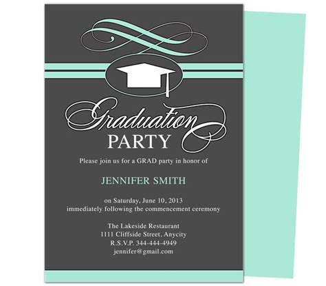 graduation invitation templates free word 46 best printable diy graduation announcements templates