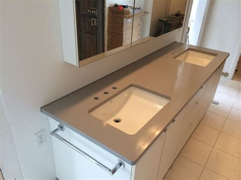 Silestone Bathroom Vanity Silestone Kensho Vanity We Installed In To An All White Bathroom Bathroom Pinterest White