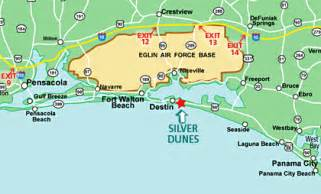 map of panhandle florida map of fl panhandle silver dunes condos destin fl