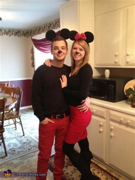 minnie  mickey mouse couples halloween costume diy