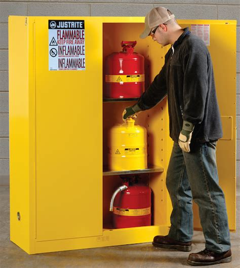 self closing flammable cabinet protect flammable chemicals with self closing
