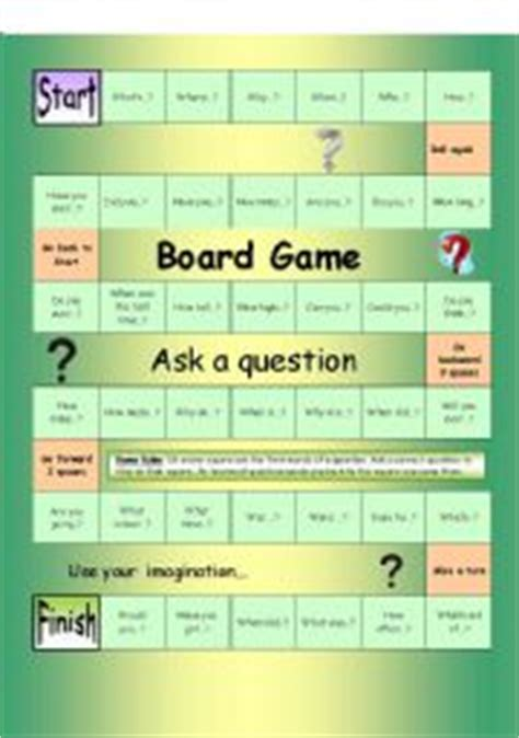how to make question cards for a board worksheets speaking worksheets