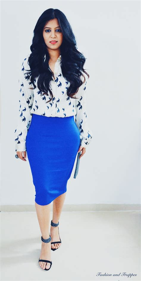 blue blouse for christmas party pencil skirt silk blouse sequin trousers ootd fashion and frappes