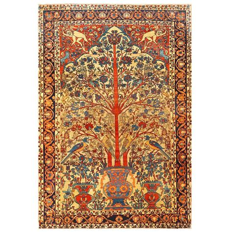 tree of rug antique sarouk farahan tree of rug at 1stdibs