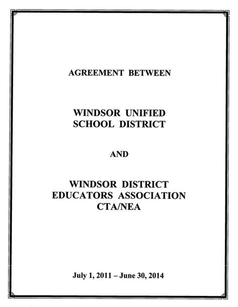 contract windsor district educators association