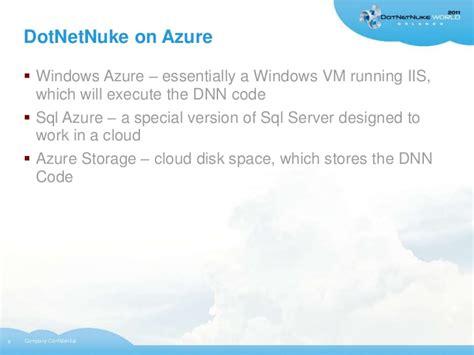 dotnetnuke  azure cloud servers
