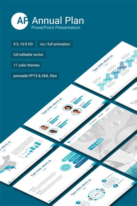 Annual Report Powerpoint Template Annual Report Ppt Template