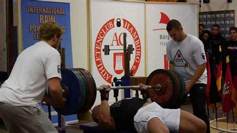 bench press 115 bench press 237 5kg 524 lbs raw youtube