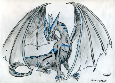 the best drawings of dragons ice dragon by wyldfire7 on deviantart