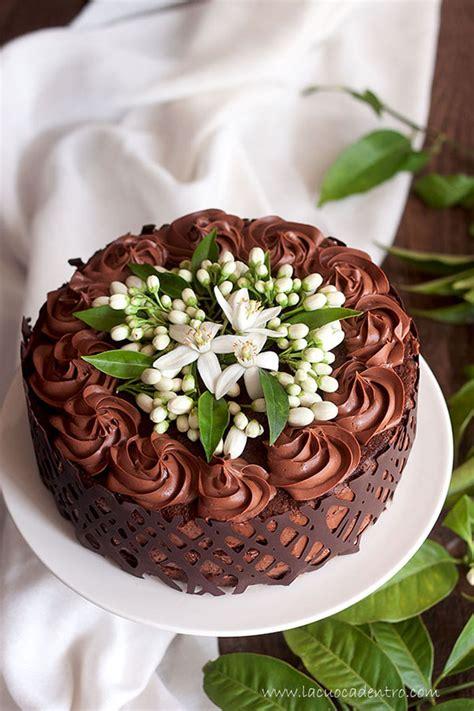 fiore di zagara torta alla mousse di cioccolato e fiori di zagara