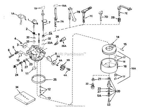 tecumseh engine carburetor diagram tecumseh ca 632511a parts diagram for carburetor