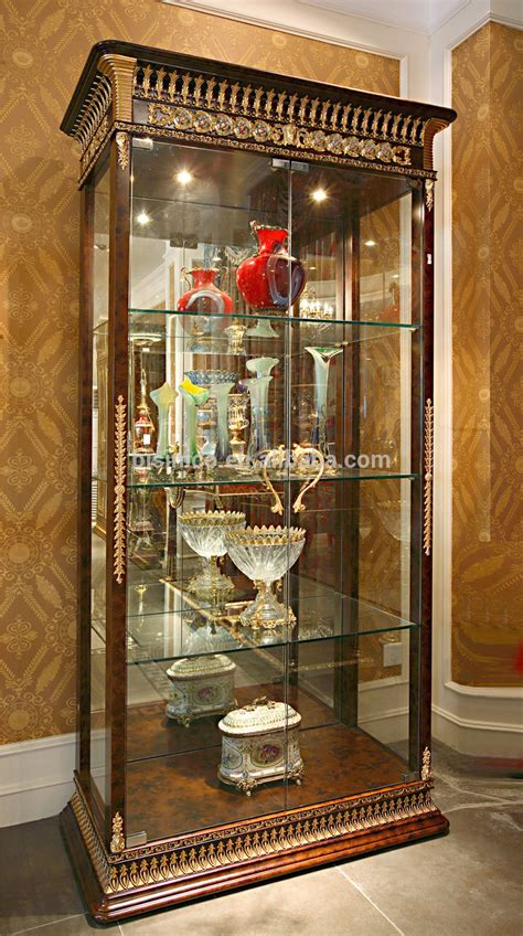 luxurious wooden carving showcase cabinet using clear luxury french baroque style living room wine cabinet