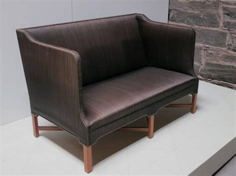 horsehair sofa sofa in original black horsehair with leather welts by