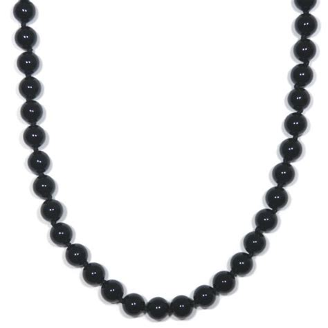 black onyx bead necklace sterling silver 8mm black onyx bead necklace 24