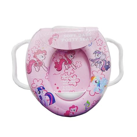 Dudukan Toilet Soft Potty Seat With Handle Ring Closet 1 jual soft baby potty seat pony with handle toilet