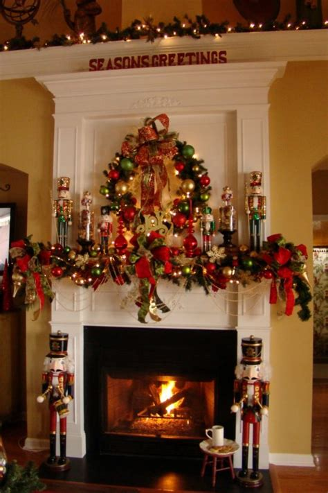christmas fireplace decorations this year for more elegant