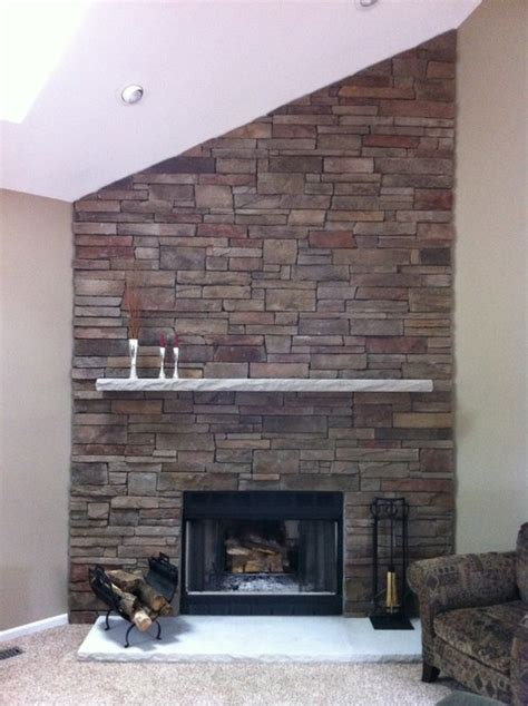Cultured Fireplace Designs by Boral Cultured Country Ledgestone Traditional