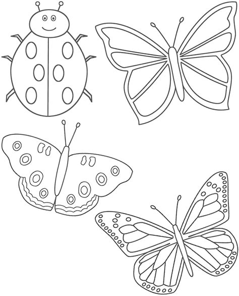 coloring pictures of butterflies and ladybugs ladybug butterfly color me dm extermination