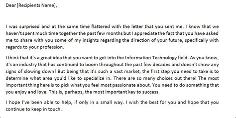 advice letter sle advice letter template formal word templates
