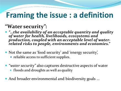 Definition Of Committee Chair by Water Security A Useful Concept What Is Needed To