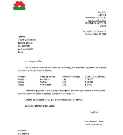 carta de oferta de nuestros productos blue cosmetic carta de cotizacion