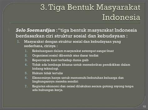 pokok pokok sistem sosial budaya indonesia