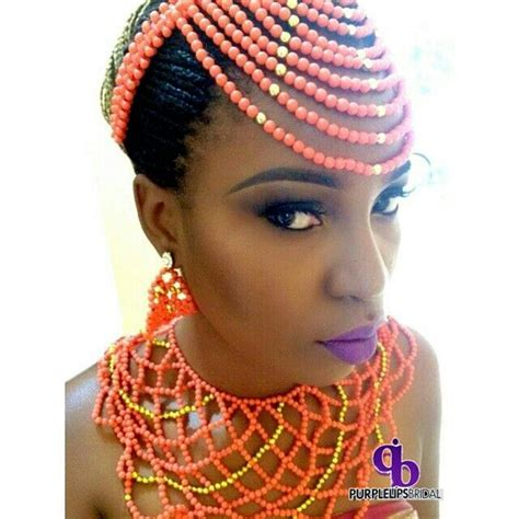 nigerian traditional bridal hair do wikipedia nigerian wedding coral bead head piece and necklace