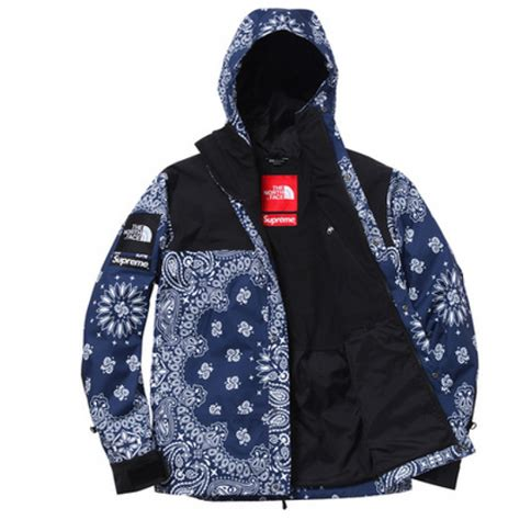 supreme jacket supreme nf paisley wind jacket blue