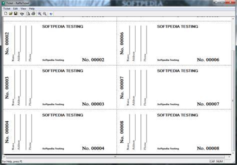 Free raffle ticket printing myideasbedroom com