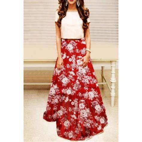 Set Printed Skirt buy set crop top with floral printed skirt