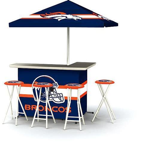 Denver Broncos Bar Stools by Nfl Denver Broncos Portable Bar With Stools Day