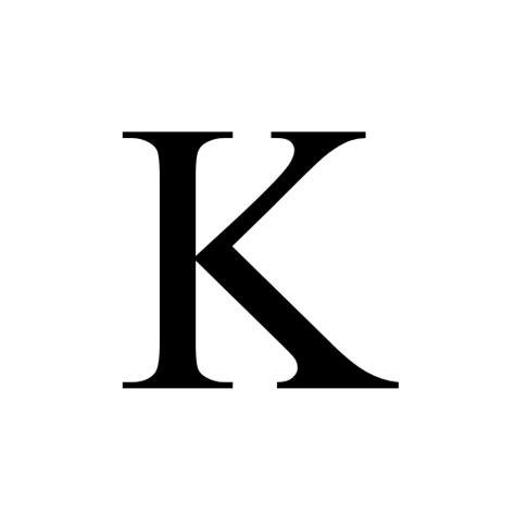 New K k capital letter k times new regular