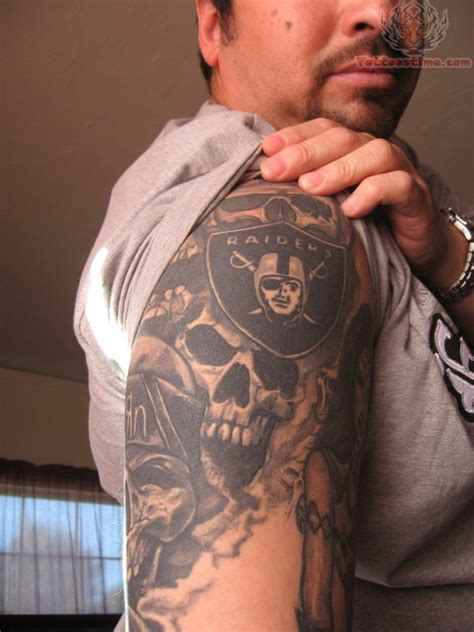 raiders skull tattoo designs 52 best oakland raiders tattoos