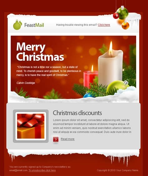 christmas themes for emails feastmail christmas email template retro premium