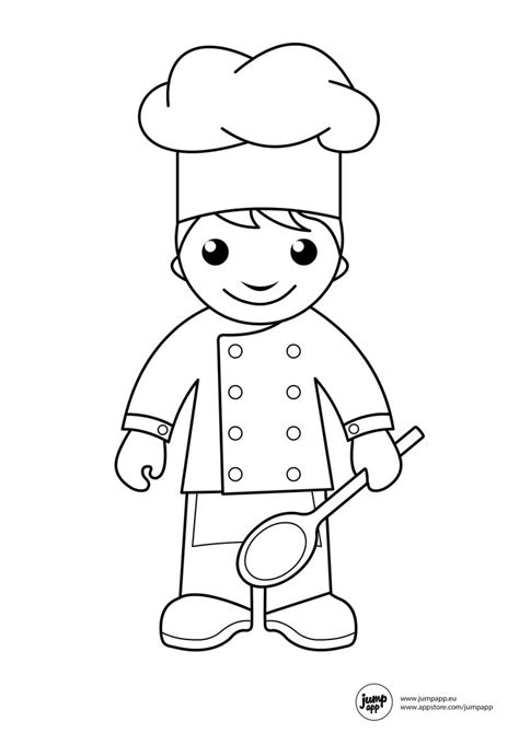 Cake Decorating Worksheets Top 79 Chef Coloring Pages Free Coloring Page