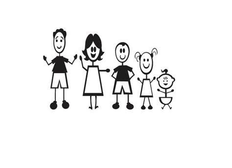 the gallery for gt stick figure family of five
