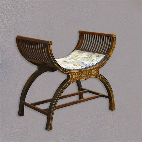 x stool antique x frame stool piano seat antiques atlas