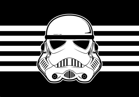 Imagenes Star Wars Vector | star wars trooper helmet vector download free vector art