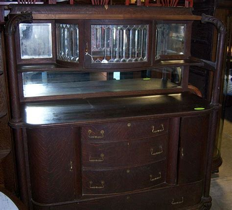 LEADED GLASS OAK CHINA CABINET   CABINET GLASS