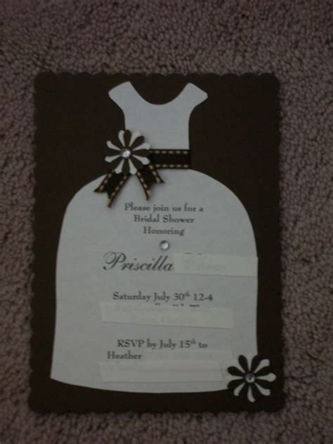 DIY Bridal shower invitations 2 ways   Weddingbee Photo