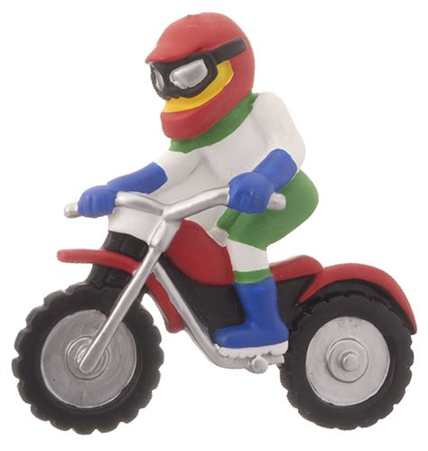 dirt bike rider christmas ornament biking