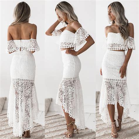 Set Dressm two dress set white honey