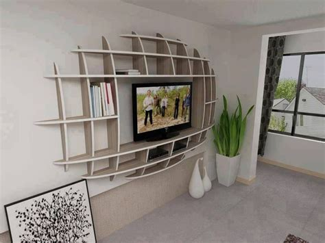tv shelf design minimalist ellipse wall mount flat screen tv stand design
