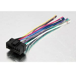 sony car audio radio headunit stereo  pin wire wiring harness adapter cable ebay