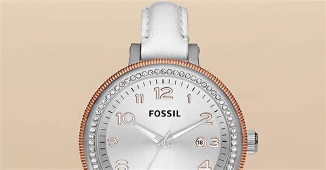 Jam Tangan Wanita Fossil Es4162 Gazer Sand Leather Original jam tangan wanita fossil type am4362
