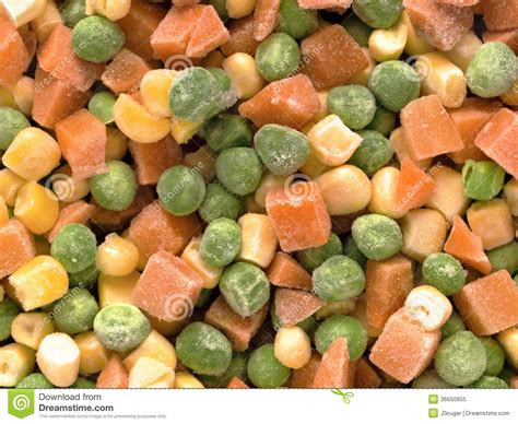 frozen diced vegetables royalty free stock photo image